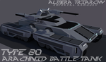 Type-80 Arachnid Battle Tank by Gwentari