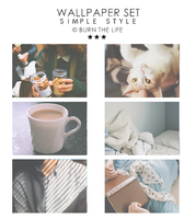 Wallpapers Set Simple Style by Burn-the-life