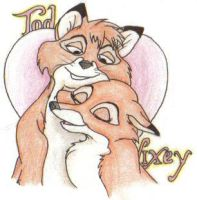 Disney Couples- Tod N Vixey 2 by Tigz-Moonlight