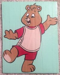 Cartoon Teddy Ruxpin (duct tape) by TheDucttapeBassist