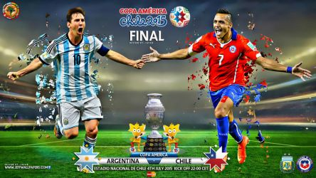 ARGENTINA - CHILE COPA AMERICA FINAL 2015 by jafarjeef