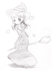 How does one mount a broom? (Day 14) by MSTieMiss