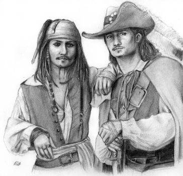 Jack Sparrow and Will Turner by PotC