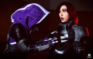 Mass Effect Cosplay  Tali  FemShep by CynShenzi