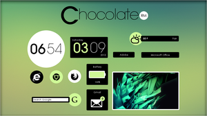 Chocolate Suite 1.0 [Rainmeter Skin] by jlynnxx