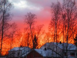 The sky is on fire.. by chikuQ