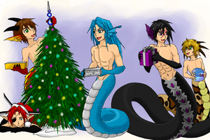 Naga Christmas by FullmetalDevil