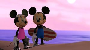 Summer update for Mickey and Minnie (Gmod/SFM) by Infante2017