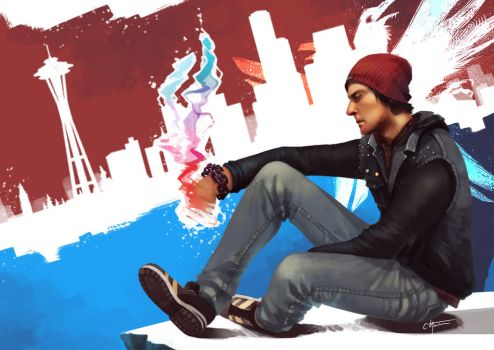 Sad Delsin Is Sad by Ciwiaf