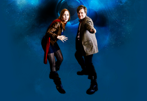 The Doctor and Amy Pond by freyalise