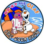 R2-KT and Olaf Like Warm Hugs patch design by siebo7