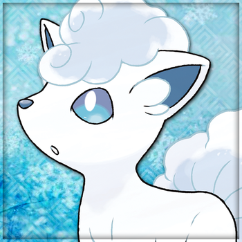 Pokemon Sun and Moon: Alola Vulpix Icon by Pheonixmaster1