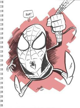 Spidey sketchbook doodle by thecheckeredman