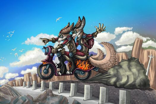 Scooter riders by Flip-Fox