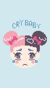Pixel Cry Baby by HeHesArt