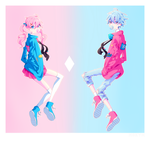Pink and Blue by M0kyn