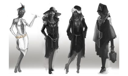 Female Flapper Alien design-Costume by chanmeleon