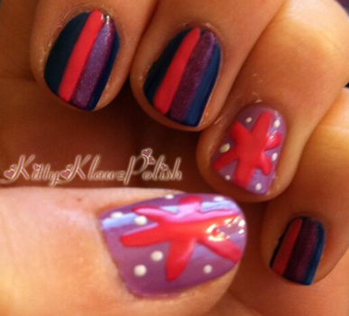 Manicures explore manicures on deviantart kepper 7 4 mlp fim inspired nail art twilight sparkle by kittyklawzpolish prinsesfo Gallery