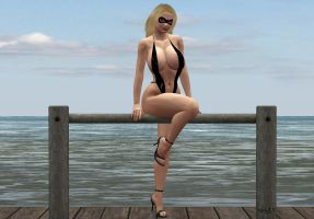 Lady Swiftclaw at the Beach by hotrod5