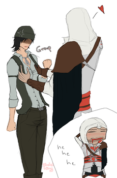 046 This is why I'm hot - Ezio by BlastedKing
