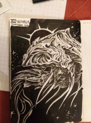 XII whale Inktober2018  by AgentJericho