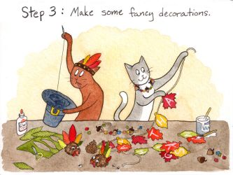 Kitty and Coco's Guide to Thanksgiving: Step Three by katnips