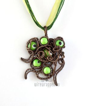 Shoggoth wire wrapped pendant by ukapala