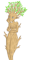 Pixel Tree Girl by Christy-off