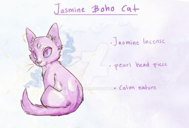 Jasmine Boho cat ( Auction -CLOSED) by Mashwroom