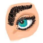 Eye - My first ever tablet drawing by AdrianeCasini