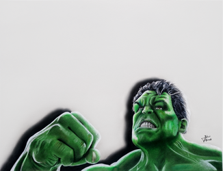 Hulk: Drawing by JakubQaazAdamski