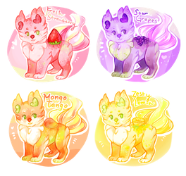 Fruit Scentlings AUCTION- closed! by Ponstoe-Adopts