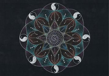mandala on black paper by TamaraButterfly