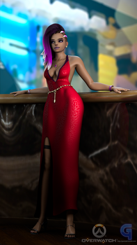 Sombra Dressed up  from Masquerade Comic by GusMash3D