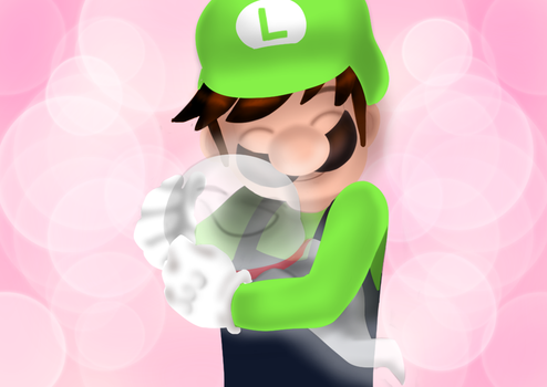 Luigi and the pup by Mrevilcookiezz