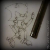 How I Draw Metal Sonic :D by ApocalypseBloodStars