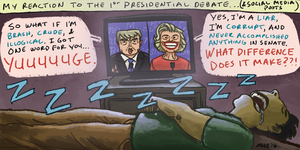 2016 1st Presidential Debate by gaudog
