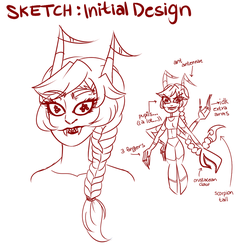 [Sketch]: New Pirate OC by SimplyDefault