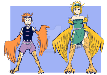 Harpy Race by connordragon