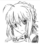 Picture 12 - Artoria Pendragon - Trace by drawing-archive