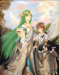 Lady Palutena and her Angel by DNLINK