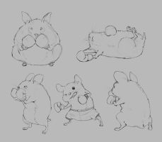 Hamster Boxers by JohnoftheNorth