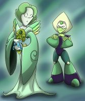 Peridot and Peridot by shinragod