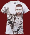 T-Shirt White Model E 01 (Drawing) by eduartinegrafikdizan