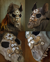 Wolf skull mask #2 by Nymla