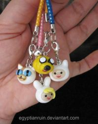 Adventure Time Cell Straps by egyptianruin