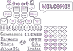 Purple Pixel Decor Set by StampMakerLKJ