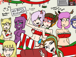 The Oc Christmas Party by TanksandTurtles