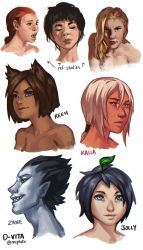 Studies and D-Vita sketches by mcptato