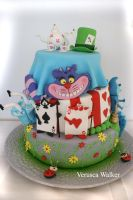 Alice in Wonderland Cake by Verusca